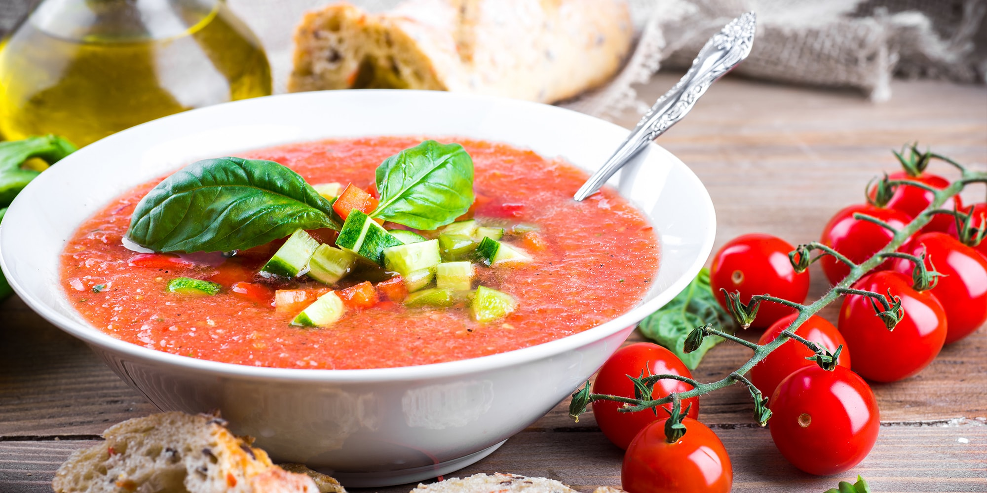 Gazpacho mit Toppings